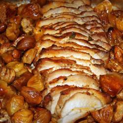 Filet mignon de porc aux châtaignes
