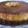 Gâteau-pudding au chocolat et vanille