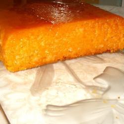 Pudding de potiron et noix de coco au caramel d'orange