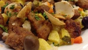 Viande de Porc à Alentejana, recette typique de l'Alentejo