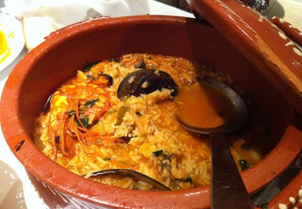 Riz aux fruits de mer portugais (arroz de marisco)