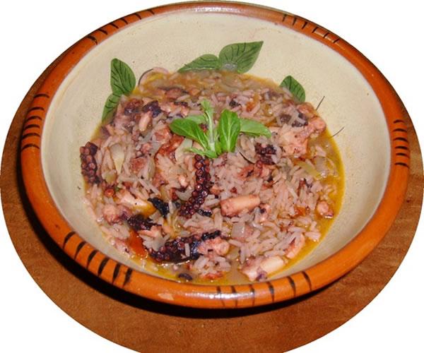 Riz de Pouple Humide, recette portugaise