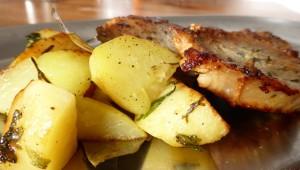 Filet de porc aux pommes de terre sautées