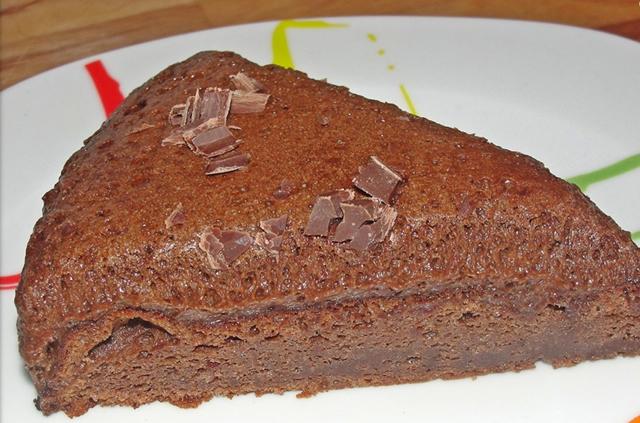 Gateau a la mousse au chocolat noir