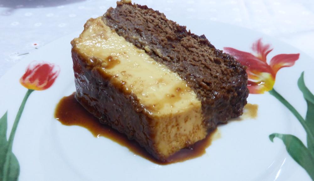 Gâteau Pudding Au Chocolat Et Vanille