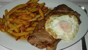 Steak de veau à la Portugaise