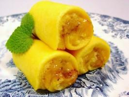 Tortas de Azeitão (Rouleaux avec créme d'oeufs)