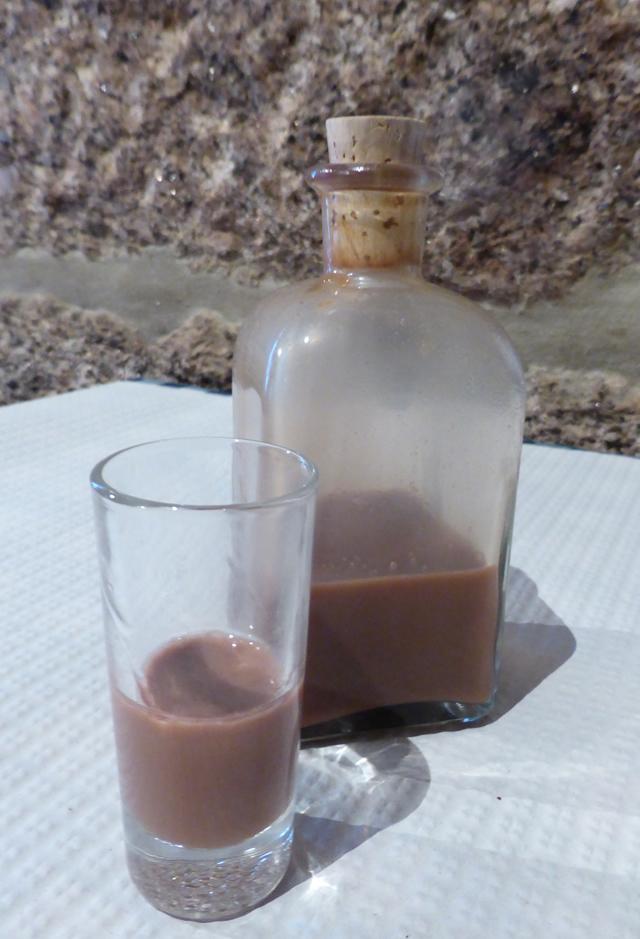 Liqueur de cacao maison