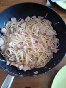 Spaghetti avec la viande étuvée testée par Nathalie