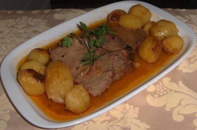 Longe de porc rôti au four