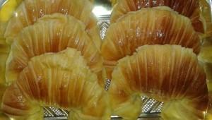Croissants de pâte brioche