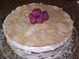 Gâteau de biscuits Maria et crème