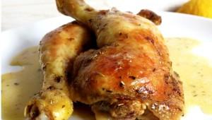 Cuisses de poulet rôties à l'ail