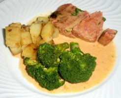 Steak de thon avec patates douces