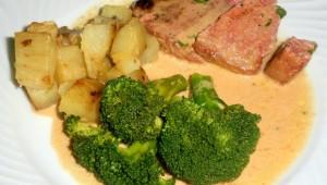 Steak de thon avec patates douces