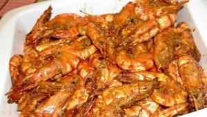 Crevettes frites