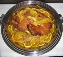 Canard rôti à l'orange