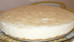Semi-froid à la crème et biscuits Marie