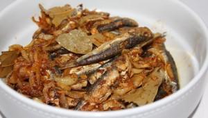 Sardines frites à la sauce d'escabèche