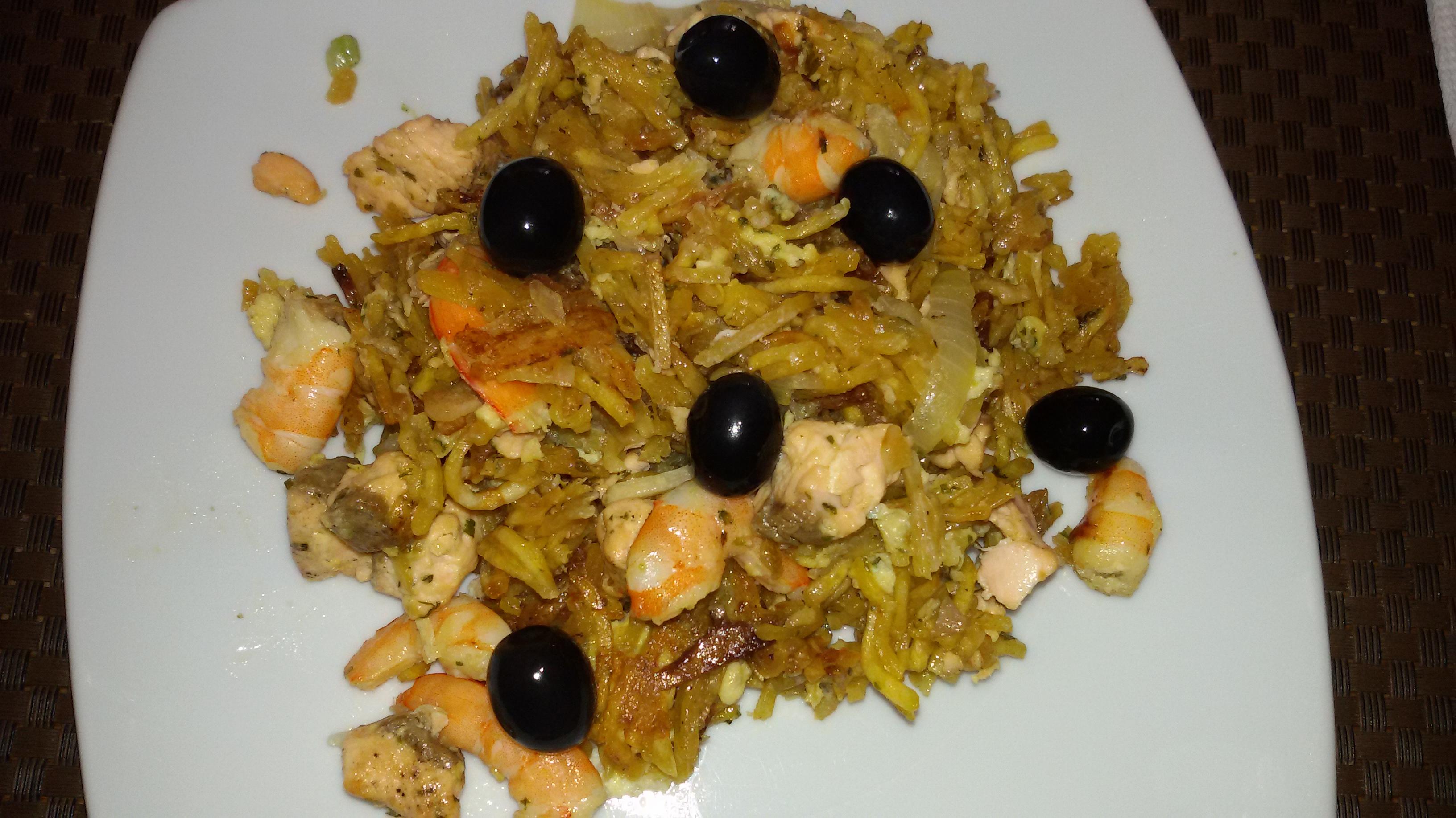 Saumon br s avec crevettes for Cuisine portugaise