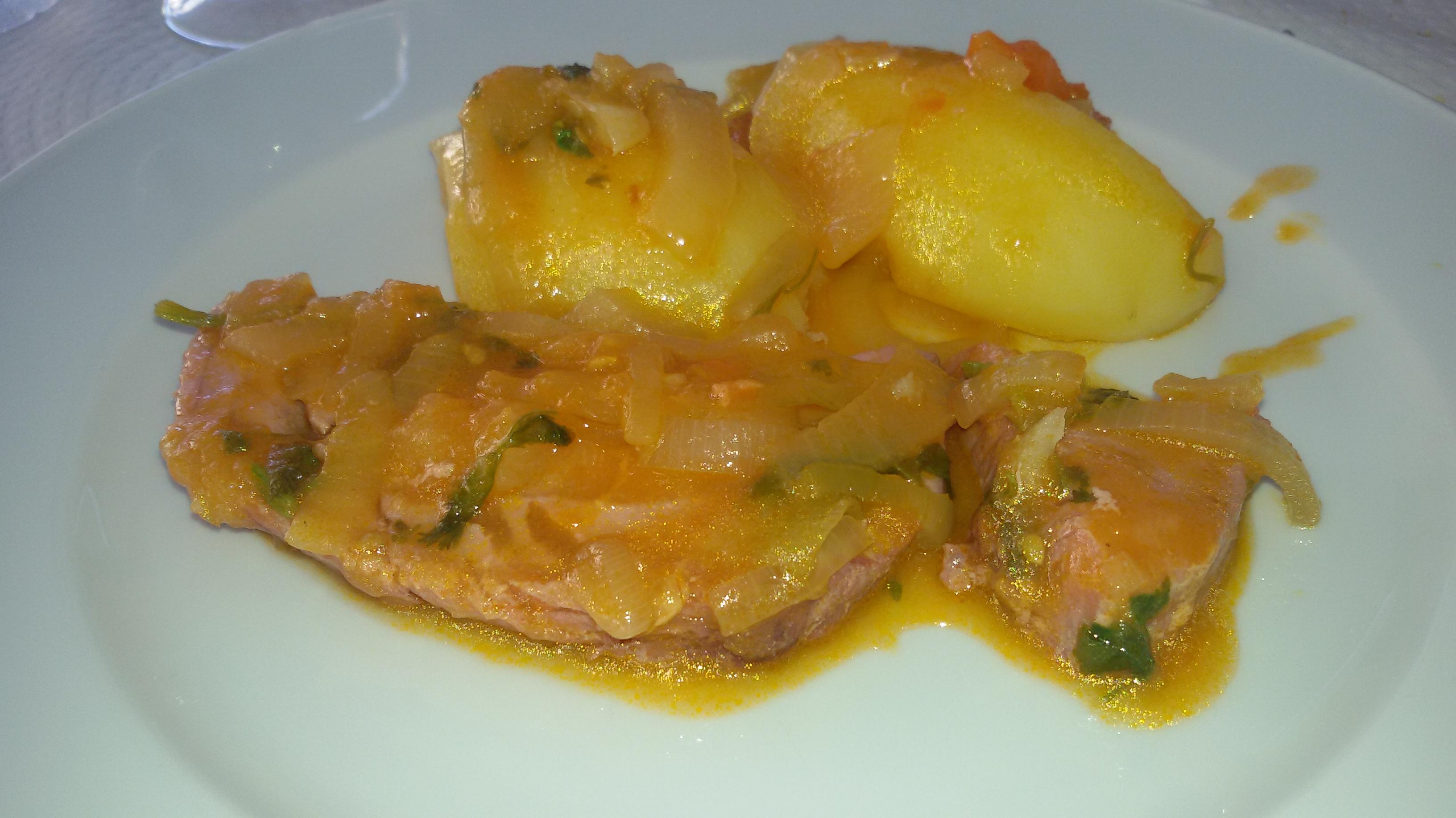 Steaks de thon et oignon cuisine portugaise for Cuisine portugaise